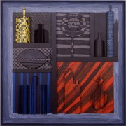 Homage to Morandi n.27 - Multi-Thickness wood, tempera, acrylics-  39,37x39,37 in - 1991