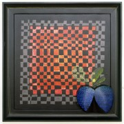 Homage to Morandi n.29 - Multi-Thickness wood, tempera, acrylics - 24x24 in - 1991