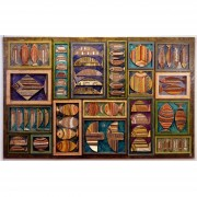 Fishmarket n.1- Multi-Thicknessed wood, enamel, waxes, acrylics- h 78,74x157,48 in - 1989