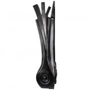 """Black leek"" - Bronze, lost wax casting - h 31,5 in - 2013"