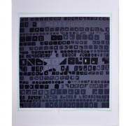 The Black Star - Silk-screen printing - h 24x28 in - 1991