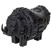 Black Rhino -  Bronze, lost wax casting - h 11x11x18 in - 2016