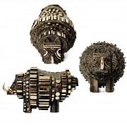 The Rhino - Bronze, lost wax casting - h 11x11x18 in - 2008