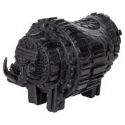 Il Rinoceronte nero - Bronzo, fusione a cera persa, ossidato nero - h 27x27x45 cm - 2016