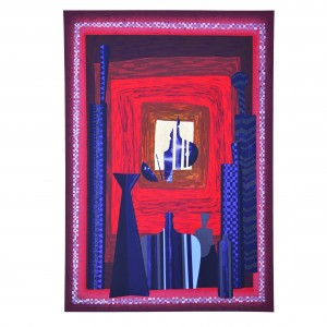 Homage to Archimede Seguso - Silk-screen printing- h 27,55x19,7 in - 2002
