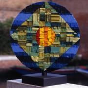 Sun n.4 - B Side - Vitreous enamel mosaic - ⌀ 15,5 in -1998
