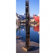 Stele n.4, Side A -Bronze, lost wax casting - h 53x5 in - 2002