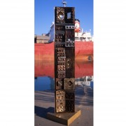 Stele n.1, Side B - Bronze, lost wax casting - h 53x10 in - 2002