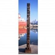 Stele n.5, Side A - Bronze, lost wax casting - h 53x10 in - 2002