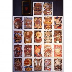 Tarocchi- 99 copie per ogni serigrafia- h 70x50 cm - 1991