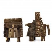 Half golden muzzle bull - Bronze, lost wax casting - h 24x20x20 in - 2008