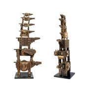 Tower of Horses - Bronze, lost wax casting - h 16x58x16 in - 2008