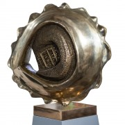 Giant Tortellino - Bronze, lost wax casting - h 23,6 in - 2013