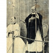 Sacred Vesments weared by Pope Paul VI- Pyrographyed Velvet - 1967