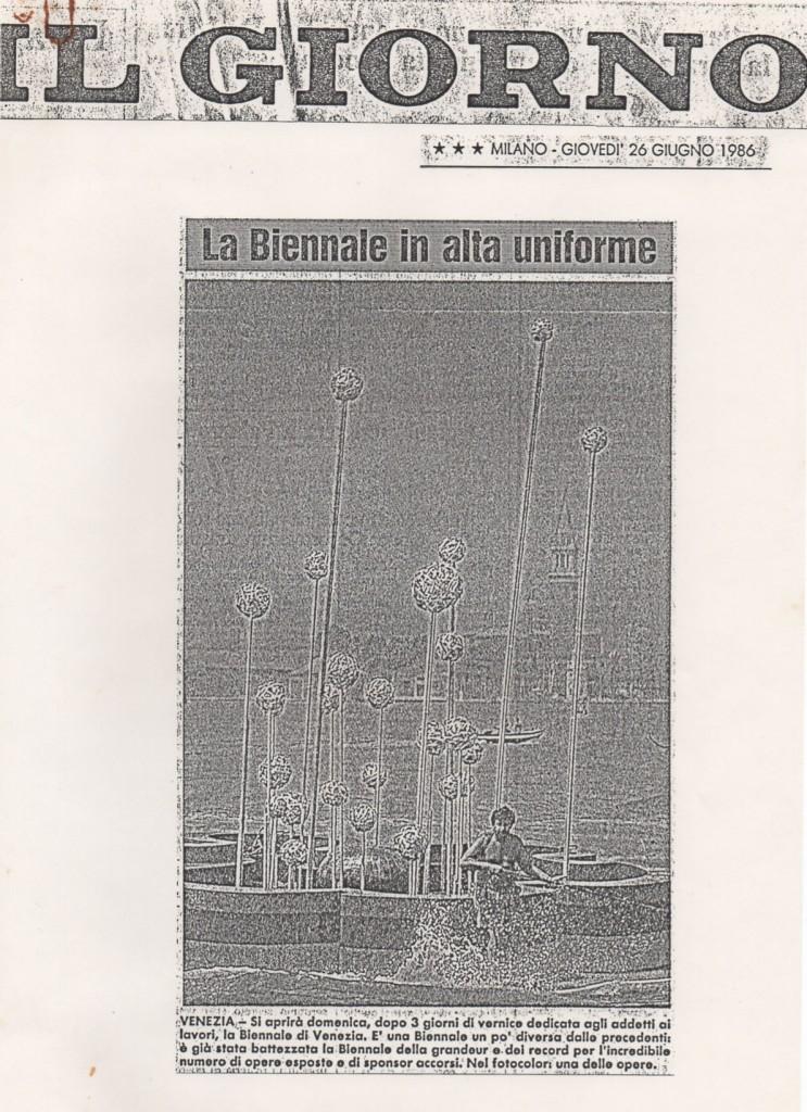 Biennale 1986 Ninfea armonica