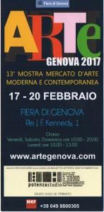 invito arte genova 2017 timbrato