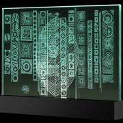 Scultura Trasparente n.19 - Incisione a mola su lastra di cristallo industriale - 42x30 cm - 2017