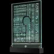 Scultura Trasparente n.20 - Incisione a mola su lastra di cristallo industriale - 38x50 cm - 2017