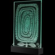 """""""Scultura Trasparente"""" -Incisione a mola su lastra di cristallo industriale - 30x42 cm - 2017"""