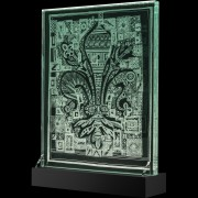 Il Giglio di Firenze - Incisione a mola su lastra di cristallo industriale - 40x50 cm - 2018