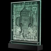 Il Giglio di Francia - Incisione a mola su lastra di cristallo industriale - 40x50 cm - 2018