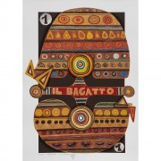 Il Bagatto (The Magician) - Serigraph 1/22 of Tarots - Run 8/99, printed up to 40 colours with metal insertion on Fabriano paper - 19,7x27,6 in - Venice, 1990