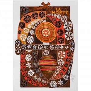La Morte - Serigrafia 13/22 'I Tarocchi' - Tiratura 8/99 Stampa fino a 40 colori con inserimento di metalli su carta Fabriano - 50x70 cm, Venezia 1991