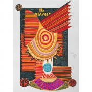 Il Diavolo (The Devil) - Serigraph 15 /22 of Tarots - Run 8/99, printed up to 40 colours with metal insertion on Fabriano paper - 19,7x27,6 in - Venice, 1991