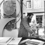 Gianmaria Potenza working in his studio, Venice 1987