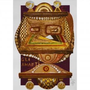 Gli Amanti - Serigrafia 6/22 'I Tarocchi' - Tiratura 8/99 Stampa fino a 40 colori con inserimento di metalli su carta Fabriano - 50x70 cm, Venezia 1991